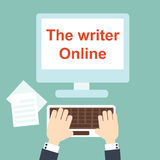 The writer Online Royalty Free Stock Photos
