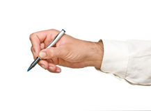 Writer with pen Royalty Free Stock Photos