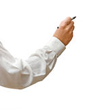 Writer with pen Royalty Free Stock Photography