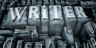 Writer print Royalty Free Stock Image