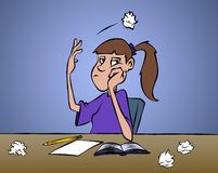 Writer's Block. Don't ya just love it when you can't come up with anything Stock Photo