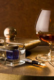 Writer's cognac royalty free stock photography