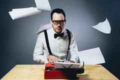 The writer. Studio shot of writer man royalty free stock image