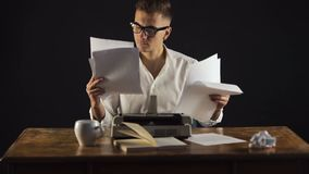 Writer Throws Papers