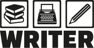 Writer tools - book, typewriter, pen Royalty Free Stock Photo