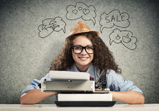 Writer waiting for inspiration Stock Photography