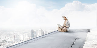 Writer woman working in isolation Stock Photo