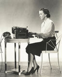Writer at work Royalty Free Stock Photography