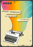 Writers' background. Sixties scrapbook-style typewriter background (grunge removable Stock Photos