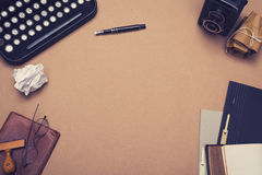 Writers desk hero header image Stock Photos