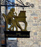 The Writers Museum , on the Royal Mile in Edinburgh. The Writers' Museum presents the lives of three of the foremost Scottish writers: Robert Burns, Walter Royalty Free Stock Photography