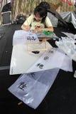 Writes chinese language Royalty Free Stock Image