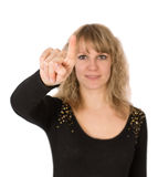 Writes finger woman Stock Images