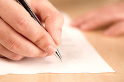 Writing Royalty Free Stock Photography
