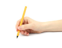 Writing. Hand writing on white background royalty free stock photography
