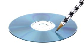 Writing. Data in digital cd-rom Royalty Free Stock Photography