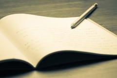 writing stock afbeelding