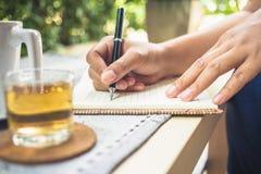 writing royalty-vrije stock foto's