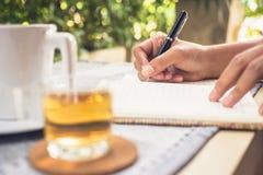 writing royalty-vrije stock fotografie