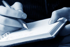 Writing. Royalty Free Stock Photos