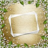 Writing abstract background. With frame floral beautiful bouque Stock Images