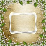 Writing abstract background. With frame floral beautiful bouque royalty free illustration