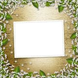 Writing abstract background with frame Stock Photo