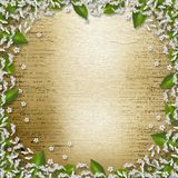 Writing abstract background with frame floral. Beautiful bouque vector illustration