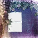 Writing abstract background with frame. And floral beautiful bouquet stock illustration