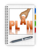 Writing an action plan Stock Image