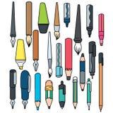 Writing akcesoria ilustracji