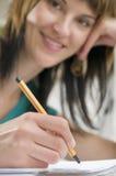 Writing ans uśmiech Obrazy Stock