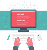 Writing an Article Royalty Free Stock Photography