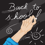 Writing back to school Stock Image