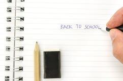 Writing back to school Stock Photo