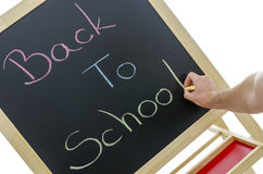 Writing back to school Stock Photography