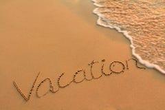 Writing on a beach Stock Image