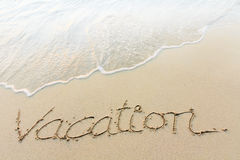 Writing on a beach Stock Images