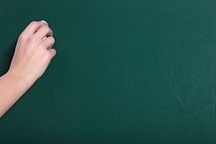 Writing on the blackboard Royalty Free Stock Photos