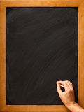 Writing on a blackboard Stock Image