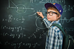 Writing on a blackboard Stock Photo