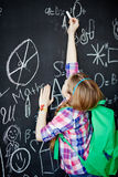 Writing on blackboard Royalty Free Stock Photography