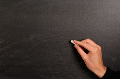 Writing on a blackboard Stock Photos