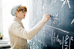 Writing on blackboard Stock Photography