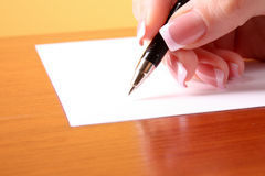 Writing on blank paper Royalty Free Stock Image