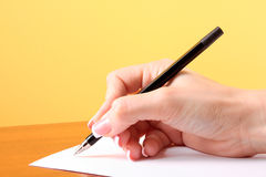 Writing on blank paper Royalty Free Stock Photo