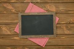 Writing board and napkin Stock Photo