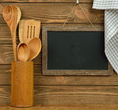 Writing board and spoons Stock Image