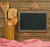 Writing board and spoons Royalty Free Stock Photography