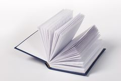 Writing book. Open writing book with contact over white background Royalty Free Stock Image